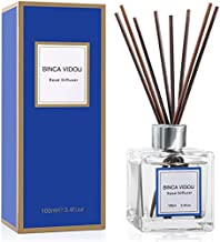 Binca Vidou Reed Diffuser Set, Bergamot Vanilla Lavender and Jasmine Scented Oil Reed Diffusers for Bedroom Living Room Office, Giftable & Stress Relief 100 ml/3.4 oz