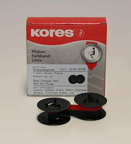 Kores 2248548 Ruban de haute qualité en nylon compatible avec Imprimante Addo 13 mm x 4 m Noir/Rouge