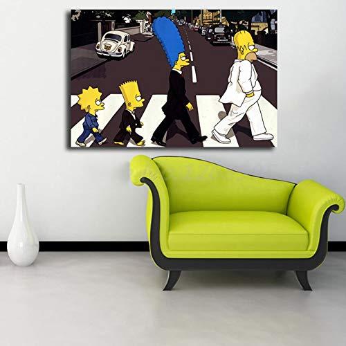 Geiqianjiumai Graue Zwei Pferde, die Leinwandmalerei Tierwandkunst drucken Moderne Hauptdekoration rahmenlose Malerei 60x100cm Laufen