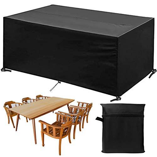 Funda para muebles de jardín de phixilin, impermeable, cubierta para mesa de jardín, tejido Oxford transpirable, funda para muebles de jardín, juego de muebles – (245 x 165 x 100 cm)