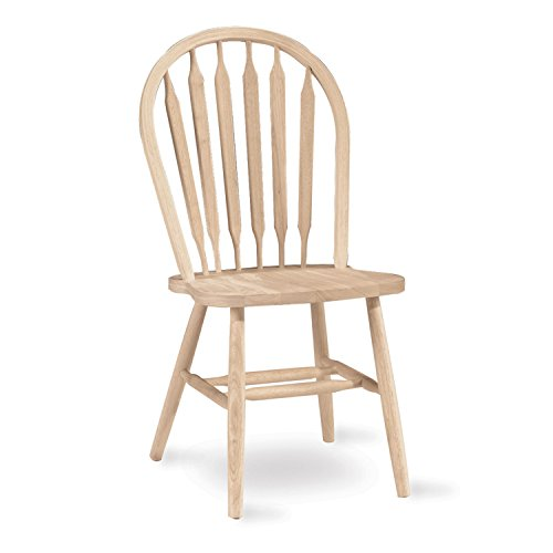 International Concepts 37-Inch Arrow Back Chair, Unfinished