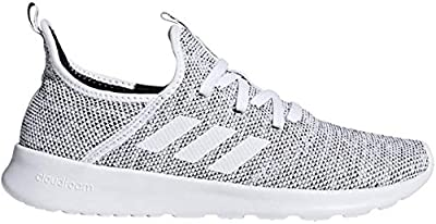 adidas Performance Women's Cloudfoam Pure Running Shoe, White/White/Black, 8.5 M US