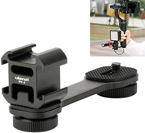 Smartphone Gimbal Accessories - Ulanzi PT-3 Triple Hot Shoe Mounts Plate Microphone Extension Bar Bracket for Zhiyun ...