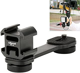 Smartphone Gimbal Accessories - Ulanzi PT-3 Triple Hot Shoe Mounts Plate Microphone Extension Bar Bracket for Zhiyun Smoot...