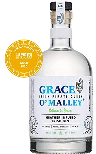 Grace O'Malley Heather Infused Irish Gin mit Heidekraut (1 x 0,7 L)