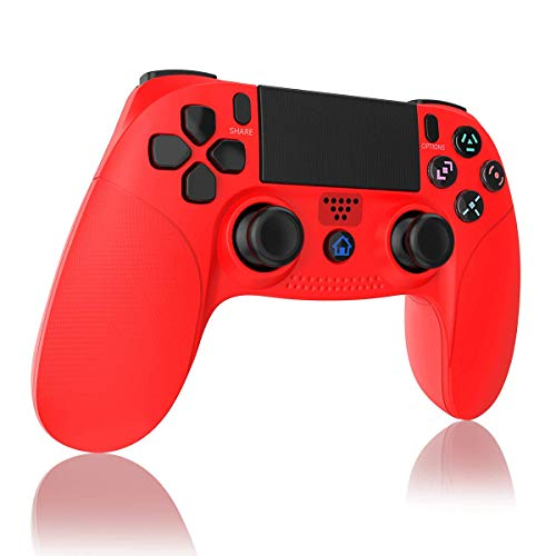 TUTUO Mando para PS4, Inalámbrico Gamepad Wireless Bluetooth Controlador Controller Joystick con Vibración Doble Remoto Compatible con Playstation 4/PS4 Slim/Pro and PS3