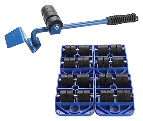 5 Pieces Easy to Use Furniture Moving Pad Slider Glider System -Moving Tool Set Lifter Durable Heavy Appliance (Color : Blue, Size : 36cm)