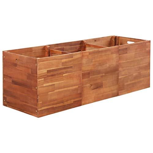 Festnight- Garten Pflanzgefäß | Terrasse Hochbeet | Holz Pflanzbeet | Pflanzkübel | Pflanzkasten | Akazienholz Mehrere Größen 150 x 50 x 50 cm