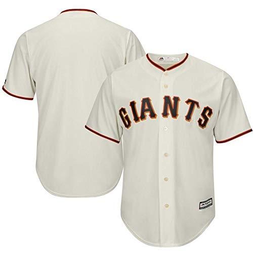 Herren Baseball Jersey Weiß T-Shirt-San Francisco Giants Unisex Trainingsuniform Athleten Jersey Fans T-Shirt Mesh Schnelltrocknendes Kurzarm Fans Sweatshirt-Beige-XXL(190.195CM)
