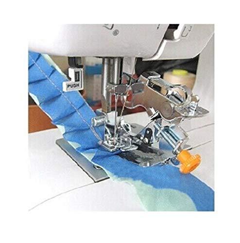 Mrjg Dobladillo Ruffler Presser Foot Feet League Ruffler Presser Foot Feet for Brother/JANOME/Singer Máquina de Coser doméstica de Mango bajo overlock