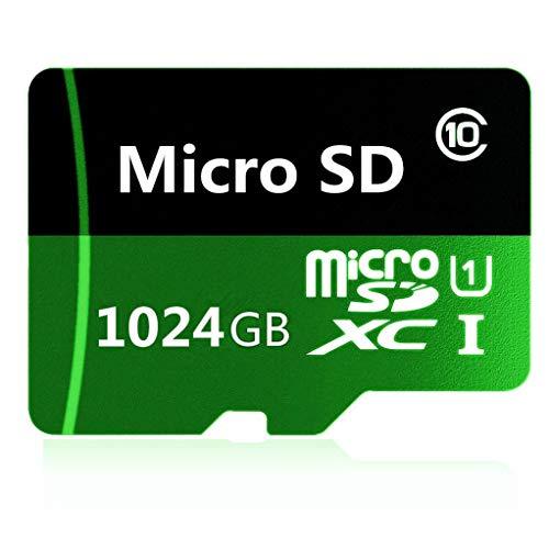 128 GB/256 GB/400 GB/512 GB/1024 GB. Scheda di memoria Micro SD SDXC classe 10 ad alta velocità con adattatore incluso (1024 GB).