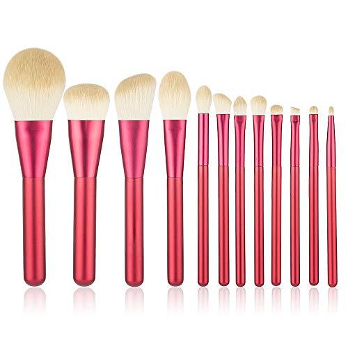 Maquillage Pinceaux, 13 Pièces Premium Fondation Blending Fard À Joues Poudre Pour Le Visage Des Yeux Cosmétiques Brosse Les Pinceaux De Maquillage Kit Soies Synthétiques,R4
