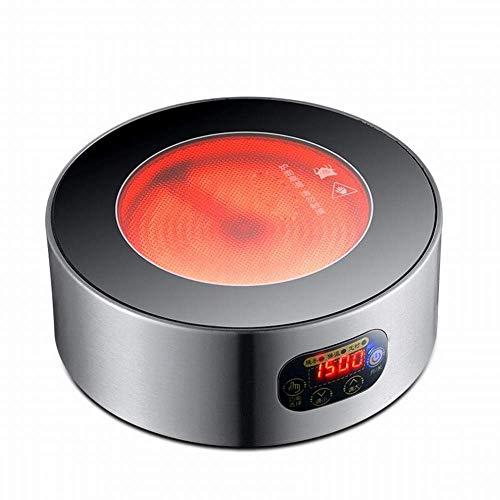1yess Elektrischer Keramikherd Teeofen Home Mini Tee Eisen Topf Tee Maker Nicht-Elektromagnetische Technologie Kleine gekochte Nudeln Feuerkessel, Silbergrau, 1