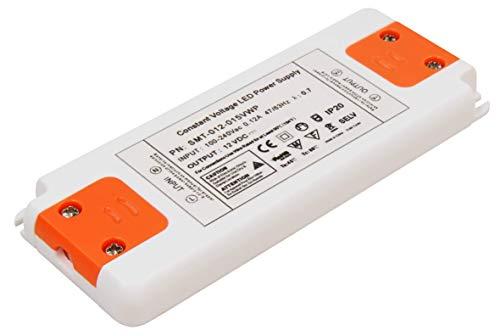McShine - elektronischer LED Trafo Transformator | Slim | 230V auf 12V | stabilisiert, für LED Niedervollampen | für z. B. G4, MR11 und MR16-Leuchtmittel sowie LED-Stripes (1-15W)