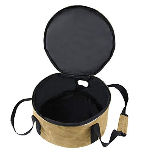 HAOXU Holandés Bolsas Campamento Holandés Horno Bolsa de almacenamiento impermeable con asas de agujero para acampar al aire libre Picnic