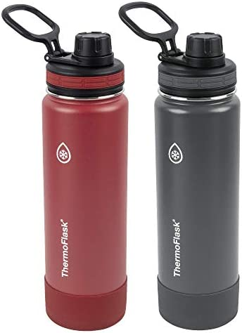 ThermoFlask 24oz Spout Bottle 2pack FireCracker Shadow product image