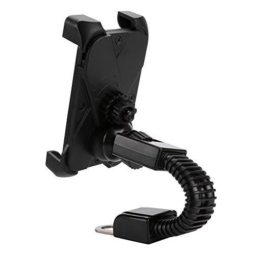 Eariy Motorrad Handyhalter Kompatibel Mit Samsung S10 / S10E / S9 / S8 / A5 / A3 / J5 / J3 / S7 / S6 Universal Handy Autohalterung Smartphone, Verstellbarer Rollerhalter StäNder FüR Handy Gps