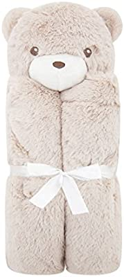 Wiseelife Super Soft Cable Knit Throw Blanket 101% Cotton Blankets for Sofa Couch Bed Home(Brown Bear)