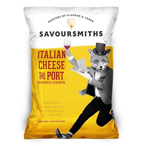 SAVOURSMITHS Italian Cheese & Port Crisps, 150 g, 12-Count