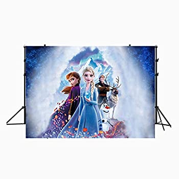 zlhcgd 7x5FT Frozen 2 Photography Vinyl Photo Background for Kids Birthday Party Backdrops Decoration