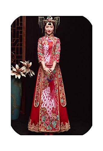 Intouchables tradizionale cinese abito da sposa ricamato cheongsam nappa Qipao Abiti da sposa Tradizioni S XXL 1 40
