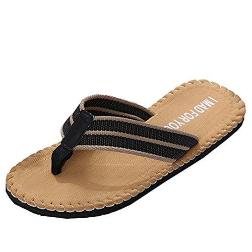 Zapatillas de Casa para Hombre ?? Yesmile Zapatos de Verano de Hombre con Patrón del Alfabeto Chanclas de Interior o al Aire Libre Sandalias de Casa de Baño