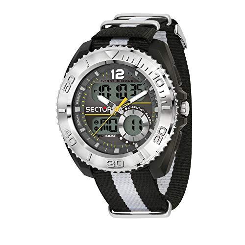 Sector No Limits Reloj Analógico-Digital para Hombre Correa en Nailon R3251521004