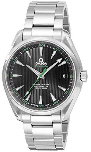 [オメガ] 腕時計 シーマスターアクアテラ ブラック文字盤 コーアクシャル自動巻き バックスケルトン 231.10...