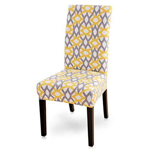 LLAAIT 1/2/4/6 Uds Fundas de Licra para sillas Estampadas elásticas Fundas para sillas universales Fundas para Comedor, Bodas, Banquetes, Hotel