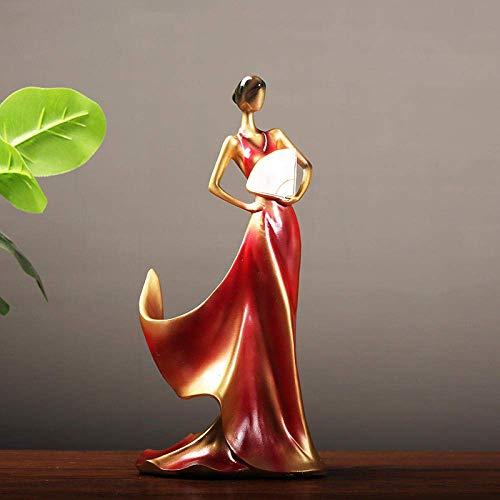 RFGTH Adornos de diseño de Escultura Estante de Vino Accesorios para el hogar Soporte para Botella de Vino Sala de Estar Gabinete de Vino Figuras Antiguas de decoración del hogar