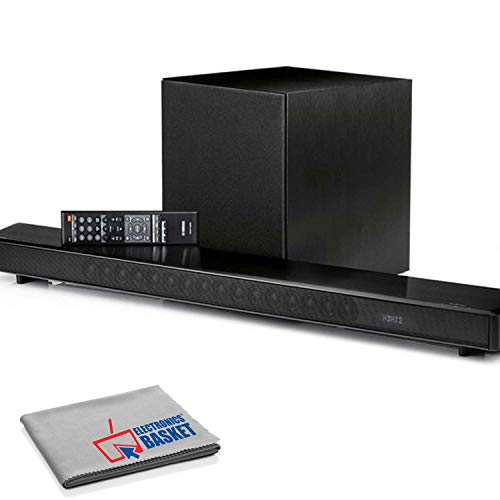 Yamaha MusicCast YSP-2700 107W 7.1-Channel Soundbar System (Black) with Microfiber Cloth