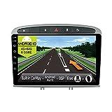 JOYX Android 10 Autoradio Passt fürPeugeot 308/408 (2010-2016) - 4G+64G - Eingebaut DSP/Carplay/Android Auto - Kamera MIC KOSTENLOS - 10.1 Zoll - Mit SWC 4G WiFi Bluetooth5.0 DAB Fast-boot 360-Kamera