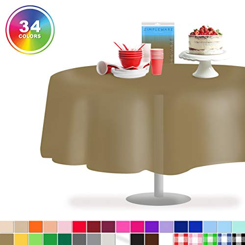 Gold 12 Pack Standard Disposable Plastic Party Tablecloth 84
