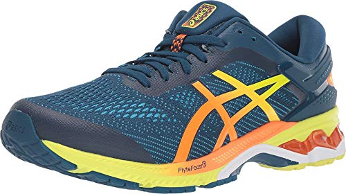 ASICS Men's Gel-Kayano 26 SP Running Shoes, 11M, MAKO Blue/Sour Yuzu