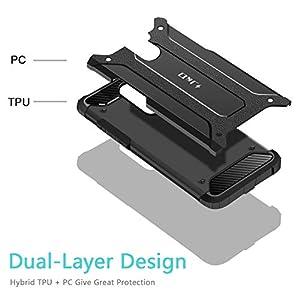J&D Compatible para Xiaomi Pocophone F1 Funda, [Armadura Delgada] [Doble Capa] [Protección Pesada] Híbrida Resistente Funda Protectora y Robusta para Xiaomi Pocophone F1 - Negro