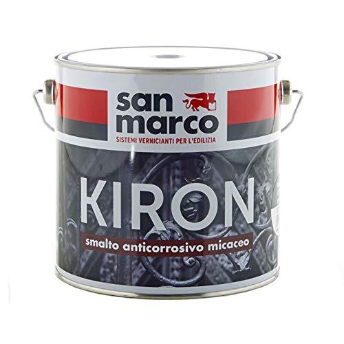 San Marco KIRON 70 Smalto anticorrosivo ad effetto micaceo, colore: Grafite, size: 0,75 lt