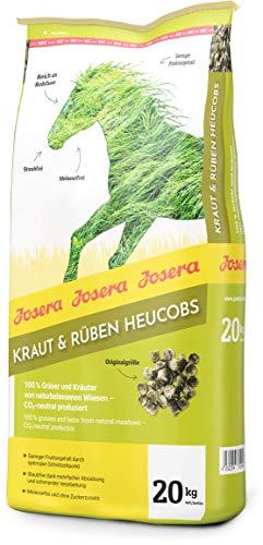 JOSERA Kraut & Rüben Heucobs (1 x 20 kg) | Premium Pferdefutter aus 100 % Gräsern und Kräutern| rohfaserreich und mit geringem Fruktangehalt | staub- und melassefrei | 1er Pack