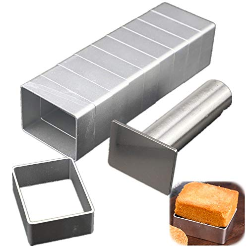 LoBake Rectangle shape aluminium pineapple cake mold stainless steel pressing stamp mooncake mould fondant cookie biscuit molds DIY