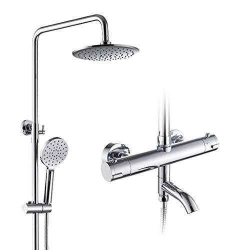 WEI-LUONG Baño Bañera Ducha termostática Pulse Establecer Bañera Grifería Inteligente Grifo termostático Ducha Sistema