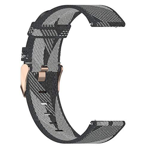 AWADUO Correa de nailon de repuesto de 22 mm compatible con Fossil Gen 5 Carlyle HR/Fossil Men's Sport/Fossil Hybrid Smartwatch HR/Fossil Gen 5 Carlyle, suave y duradera