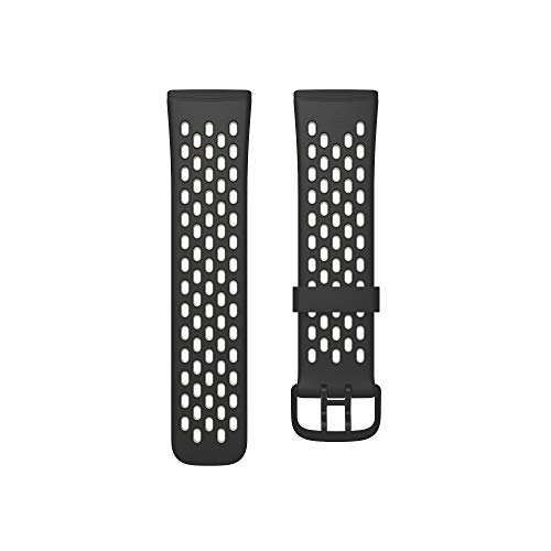 Fitbit Versa 3/Sense Cinturino per Orologio Unisex-Adult, Black/Lunar White, Small