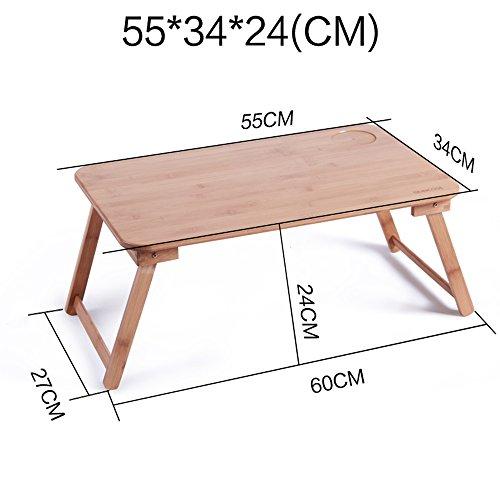 XIA Ordinateur portable table lit avec ordinateur bureau table pliante paresseux petite table bureau en bois massif 55 * 34 * 34 cm, 50 * 30 * 22 cm, 55 * 34 * 30 cm, 50 * 30 * 27 cm, 62 * 45 * 26 cm,
