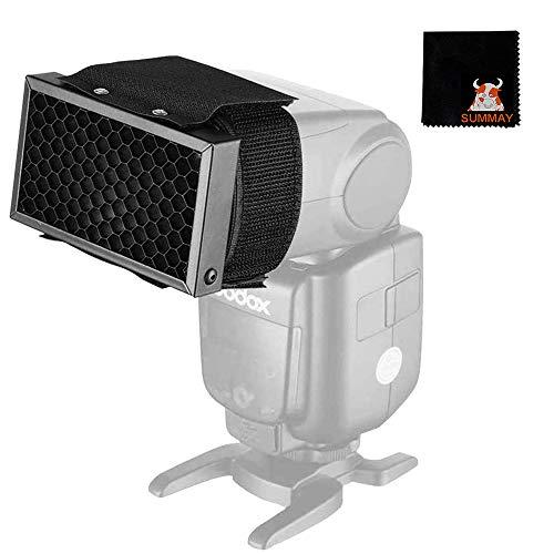 GODOX Filtro de Rejilla de Panal Flash para Sony Canon Nikon Fujifilm Olympus Godox Neewer Cámara Flash Speedlight Flashgun (Flash Honeycomb)