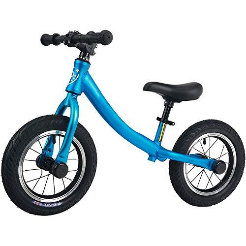 YumEIGE Balance fietsframe van aluminiumlegering groot 1-6 jaar oude kinderen leerfiets kinderstoel verstelbaar blauw