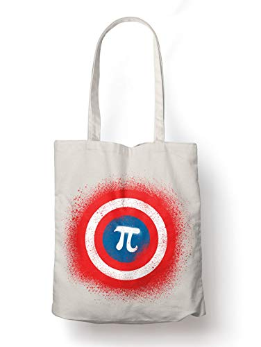 BLAK TEE Captain Science 3.14 Pi Day Mathematics Organic Cotton Reusable Shopping Bag Natural