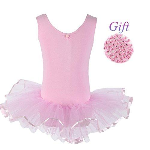 Hougood balletjurk voor meisjes, 4-14 jaar, voor kinderen, balletje, dansjurk, fantasie, prinsesjurk, mouwloos