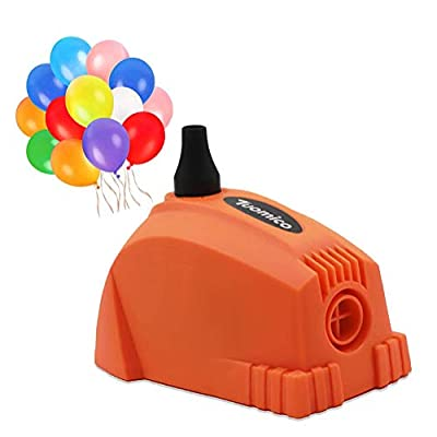 Tuomico Mini Electric Balloon Pump Portable Balloon Inflator 110-120V 300w Air Blower with 20 PCS Balloons for Party Decoration