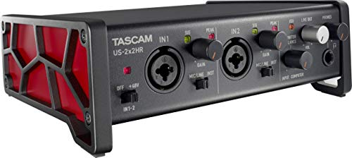 Tascam US-2x2HR 2 Mic 2IN/2OUT High Resolution Versatile USB Audio Interface (US2X2HR)