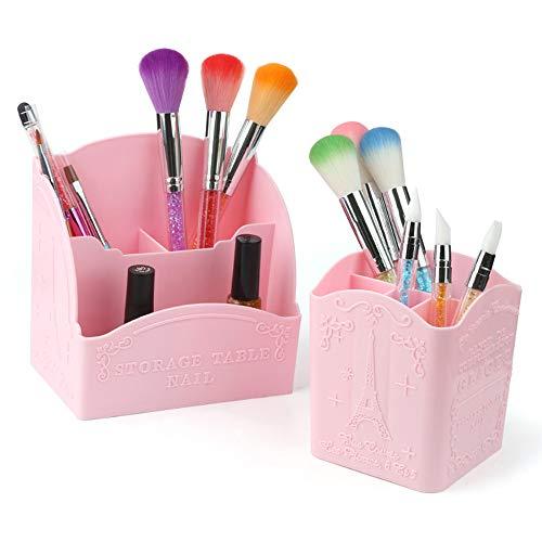 no brand AGBFJY Portable Maquillage Brosse Porte- Stylo Boîte De Rangement Boîte De Rangement Conteneur Maquillage Outil Kit