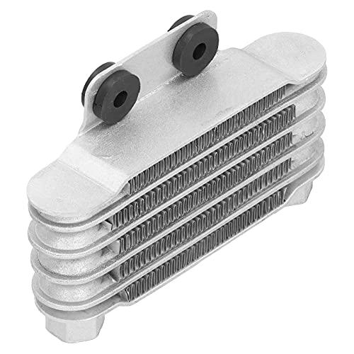 minifinker Radiador de Aceite, Temperatura del Motor de enfriamiento del radiador para Motocicletas(Silver)